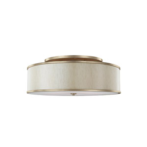 Cumbria Gold Five-Light Semi-Flush Mount