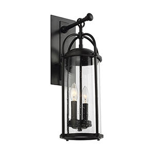 Derry Espresso Two-Light Wall Lantern