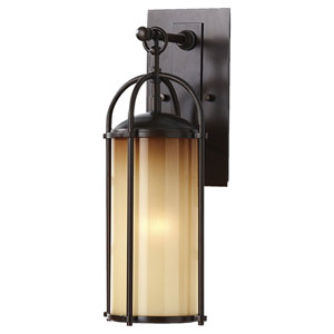 Derry Bronze Six-Inch One-Light Outdoor Wall Light