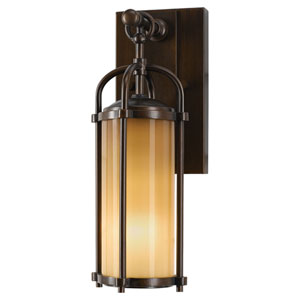Derry Bronze Five-Inch One-Light Outdoor Wall Light