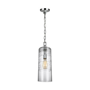 Dover Chrome 6-Inch One-Light Mini-Pendant
