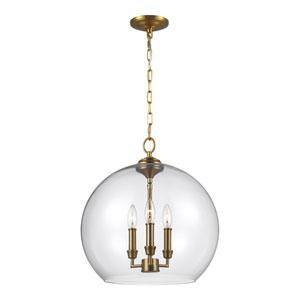 Dover Brass 16-Inch Three-Light Pendant