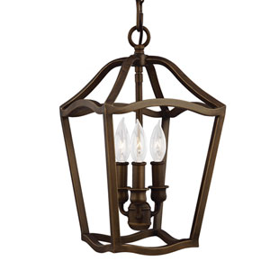 Emblem Brass Three-Light Mini Pendant