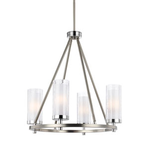 Farley Satin Nickel Four-Light Chandelier