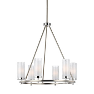 Farley Satin Nickel Six-Light Chandelier