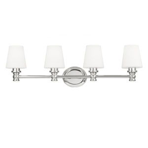 Gibson Polished Nickel Four-Light Bath Fixture