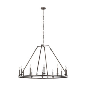 Heaton Steel 32-Inch 12-Light Chandelier