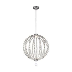 Marbury Satin Nickel 20-Inch LED Globe Pendant