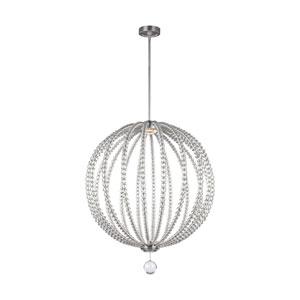Marbury Satin Nickel 32-Inch LED Globe Pendant