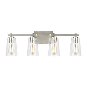 Medows Satin Nickel Four-Light Vanity
