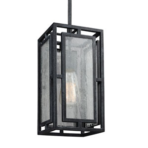 Plymouth Dark Weathered Zinc One-Light Mini Pendant