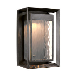River Bronze 16-Inch LED Outdoor Wall Lantern