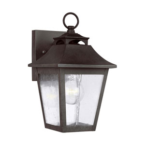 Sutton Black 10-Inch One-Light Outdoor Wall Lantern