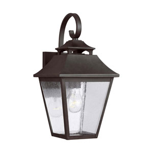 Sutton Black 16-Inch One-Light Outdoor Wall Lantern