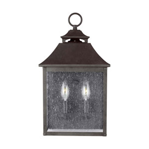 Sutton Black Two-Light Outdoor Wall Lantern