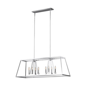 Wakefield Chrome 13-Inch Eight-Light Island Pendant