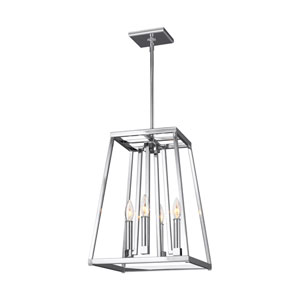 Wakefield Chrome 13-Inch Four-Light Pendant