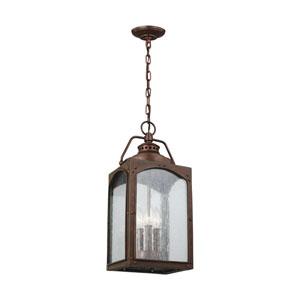 Wilbur Copper Three-Light Outdoor Pendant