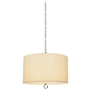 Brenthouse Polished Nickel 25-Inch Three-Light Pendant
