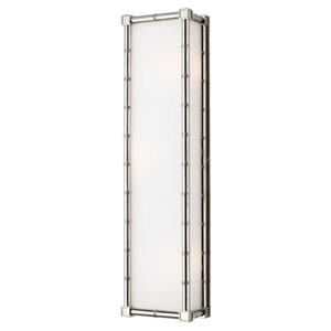 Brenthouse Polished Nickel Three-Light Wall Sconce