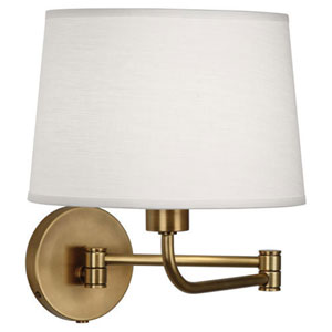 Greenbury Aged Brass One-Light Wall Swinger