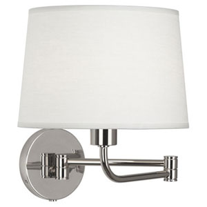 Greenbury Polished Nickel One-Light Wall Swinger