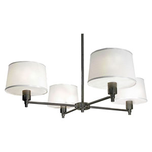 Campbell Gray Four-Light Chandelier