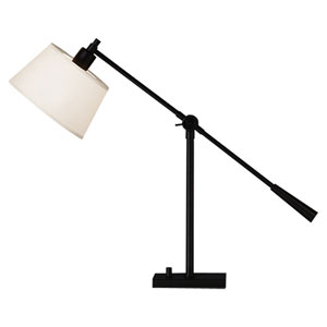 Campbell Black One-Light Desk Lamp
