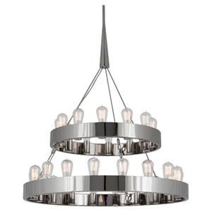 McLean Polished Nickel 30-Light Chandelier