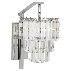Clapham Polished Nickel Two-Light Wall Sconce