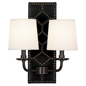 Argyle  Patina Bronze and Black Two-Light Wall Sconce