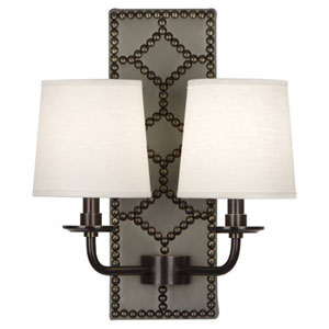 Argyle  Patina Bronze and Gray Two-Light Wall Sconce