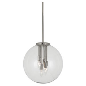 Jude Polished Nickel Six-Light Pendant