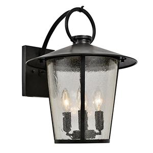 Alba Matte Black Four-Light Outdoor Wall Sconce