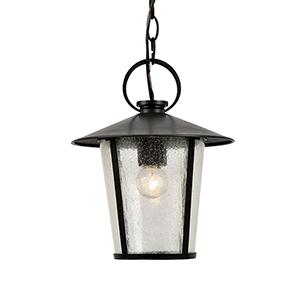 Alba Matte Black One-Light Outdoor Mini Pendant