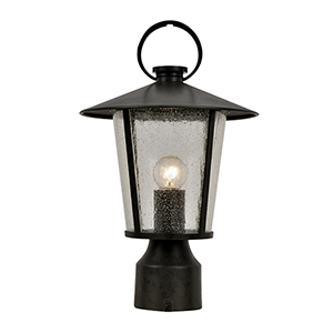Alba Matte Black One-Light Outdoor Post Mount