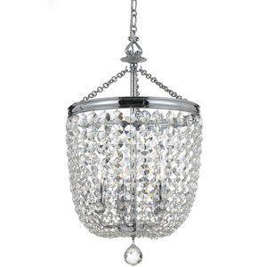 Bartletts Polished Chrome 14-Inch Five-Light Chandelier with Clear Hand Cut Crystal