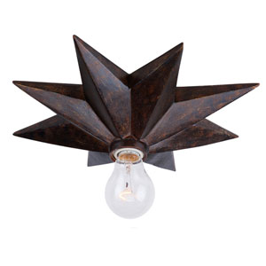 Beekman Bronze 12-Inch One-Light Flush Mount