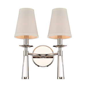 Britton Polished Nickel Two-Light Wall Sconce