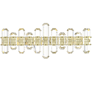 Bromley Aged Brass Three-Light Bath Vanity