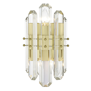 Bromley Aged Brass Two-Light Wall Sconce