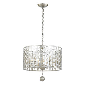 Brompton Antique Silver 18-Inch Five-Light Chandelier