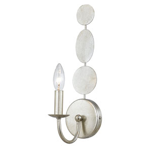 Brompton Antique Silver One-Light Wall Sconce