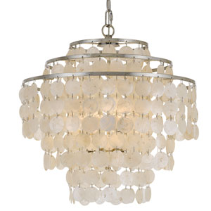 Camden Antique Silver Four-Light Chandelier