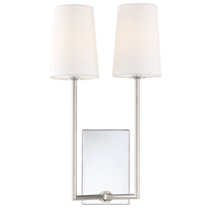 Cardinal Polished Chrome Two-Light Wall Sconce