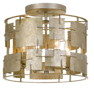 Carlisle Gold Four-Light Semi Flush Mount