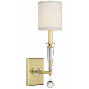 Derby Antique Gold One-Light Wall Sconce