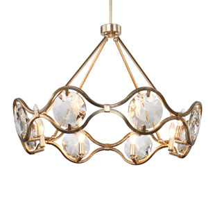 Devonshire Gold Eight-Light Chandelier