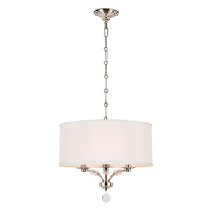 Drew Polished Nickel Three-Light Chandelier