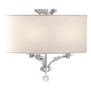 Drew Polished Nickel Three-Light Semi Flush Mount